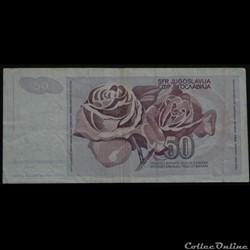billet asie indonesie 50 dinara yougoslavie 1990