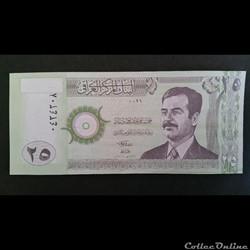 25 Dinars Irakien 2001