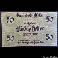 50 HELLER 31-DEC 1920