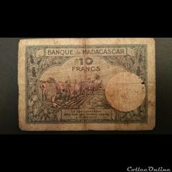 10 Francs Malgache 1937