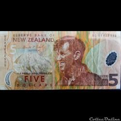 5 Dollars New Zélande
