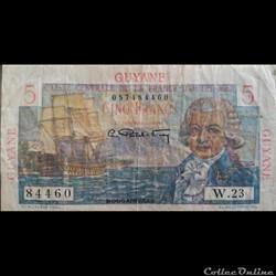 5 Francs - Guyane - Bougainville