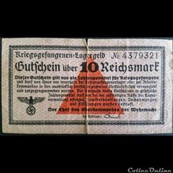 10 Reichsmarck 1939