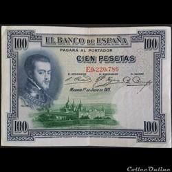 100 Pesetas 01-07-1925