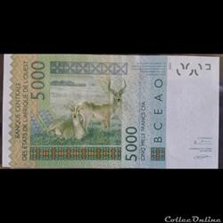 5000 Francs CFA 2003