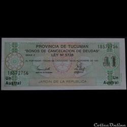 Argentine 1 Austral 1991 (Tucuman)