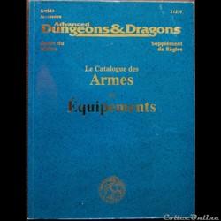 AD&D2 - Catalogue des armes et équipemen...