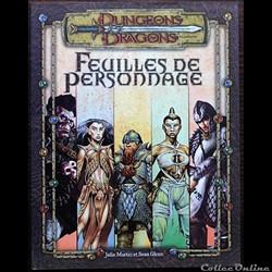 D&D3.5 - Feuilles de personnage
