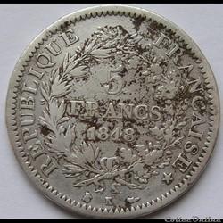 5 Francs Hercule 1848 K