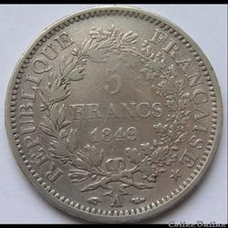 5 Francs Hercule 1849 A