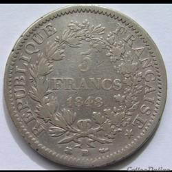 5 Francs Hercule 1848 BB