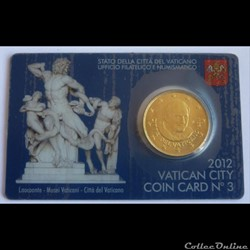 50 Cts - Vatican Coin Card 2012