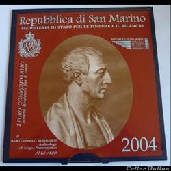 2 Euros Commémoratives - San Marin 2004