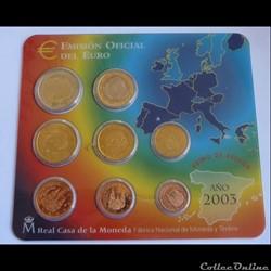 Coffret BU - Espagne 2003