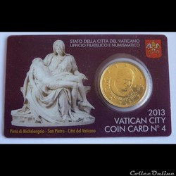 50 Cts - Vatican Coin Card 2013