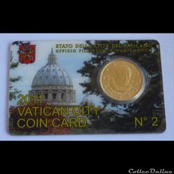 50 Cts - Vatican Coin Card 2011