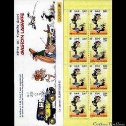 Carnet Fête du timbre 2001 : Gaston Lagaffe