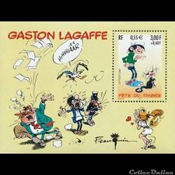 Bloc-feuillet Fête du Timbre Gaston Lagaffe