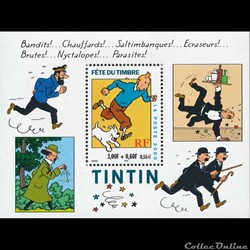 Bloc-feuillet Fête du Timbre Tintin