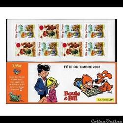 Carnet Fête du timbre 2002 : Boule Et Bill