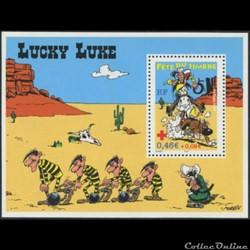 Bloc-feuillet Fête du Timbre Lucky Luke