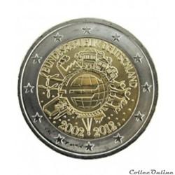 2 euros commémoratifs 2002/2012
