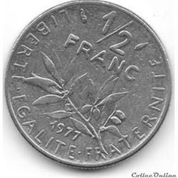 50 centimes 1977 'semeuse'