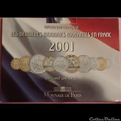 derniers francs 2001 sous blister