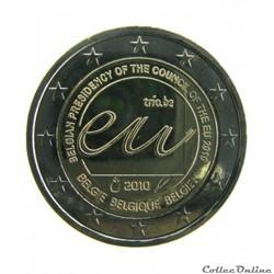 2 euros commémoratifs belge 2010