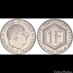 1 franc 1958-1988