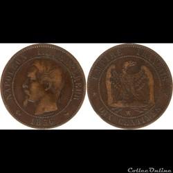 10 centimes napoléon III 1856