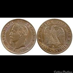 5 centimes 1865 napoleon III