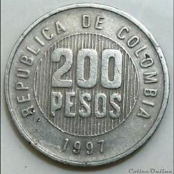 200 pesos colombie 1997