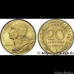 20 centimes 1993