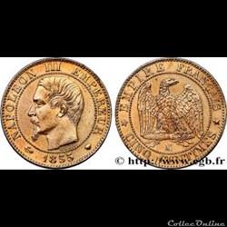 5 centimes 1854 napoleon III