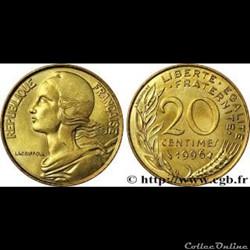 20 centimes 1996