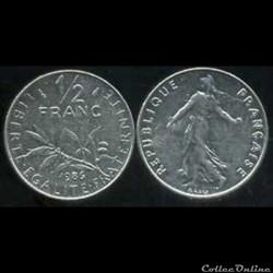 50 centimes 1986 'semeuse'