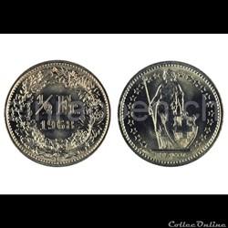 1/2 franc helvétique (suisse) 1983