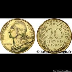 20 centimes 1997