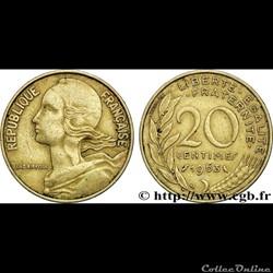 20 centimes 1963