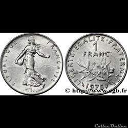 1 franc 1975 'semeuse'