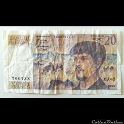 Billet de 20 Francs 1993