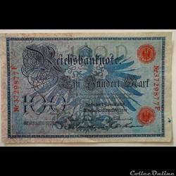 100 Reichmarks février 1908