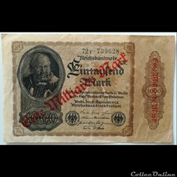 1 Milliarde Reichmarks décembre 1922
