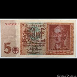 5 Reichmarks III Reich 1942