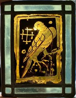 Vitrail essai 1910 - Oiseau 2