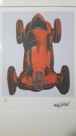 Andy Warhol W125 Race Car rouge (1960), ...