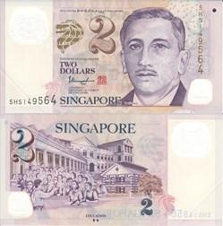 Singapore - 2 Dollars
