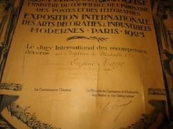 Médaille d'or exposition internationale ...