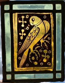 Vitrail essai 1910 - Oiseau 4